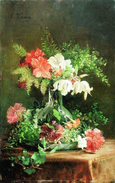Still Life, c.1860 - Konstantin Makovsky