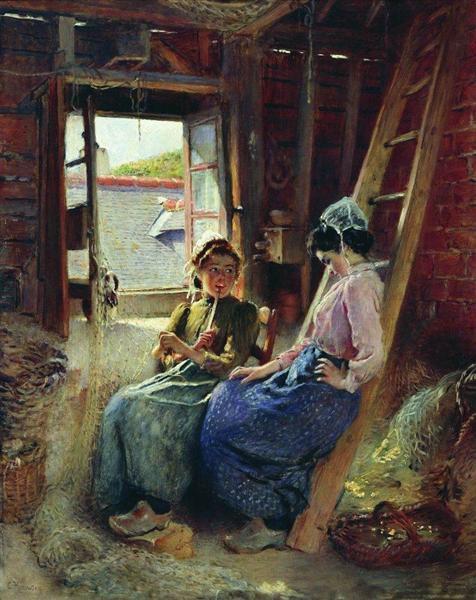 Two Breton Women, 1904 - Konstantin Jegorowitsch Makowski