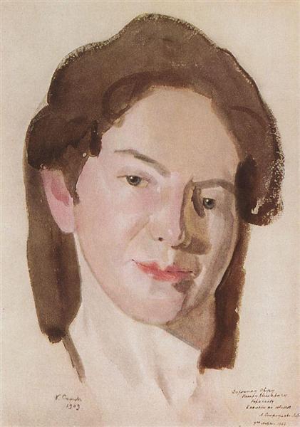 Portrait of A. Ostroumova-Lebedeva, 1909 - Konstantin Somov