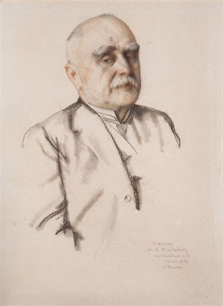 Portrait of M. Braykevich, 1934 - Konstantin Somov