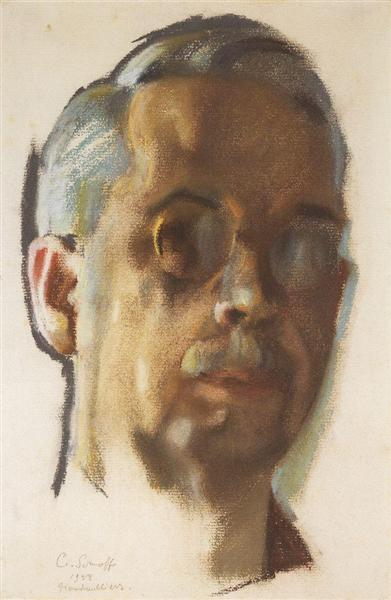 Автопортрет, 1928 - Константин Сомов