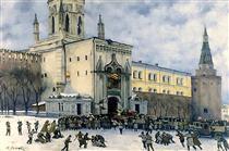 Assault on the Kremlin in 1917 - Konstantin Yuon