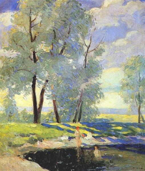 Bathing, c.1920 - Konstantin Yuon