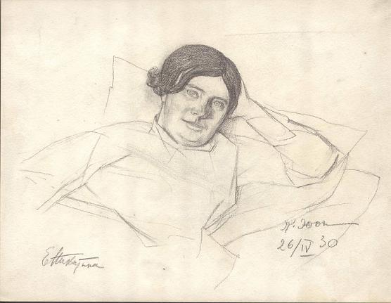 E.F. Nikitina, 1930 - Konstantin Yuon