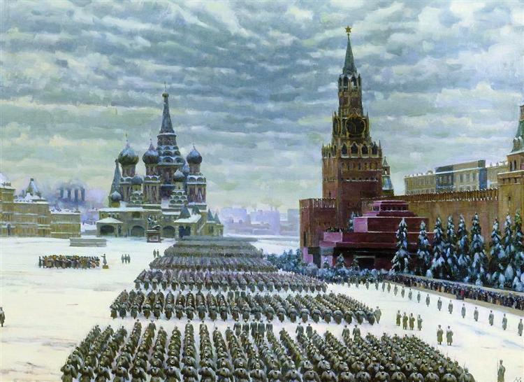 Military Parade in Red Square, 7th November 1941, 1941 - Костянтин Юон