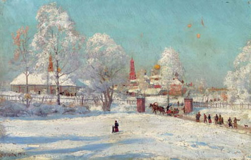 Monastery in the snow, 1900 - Konstantin Yuon