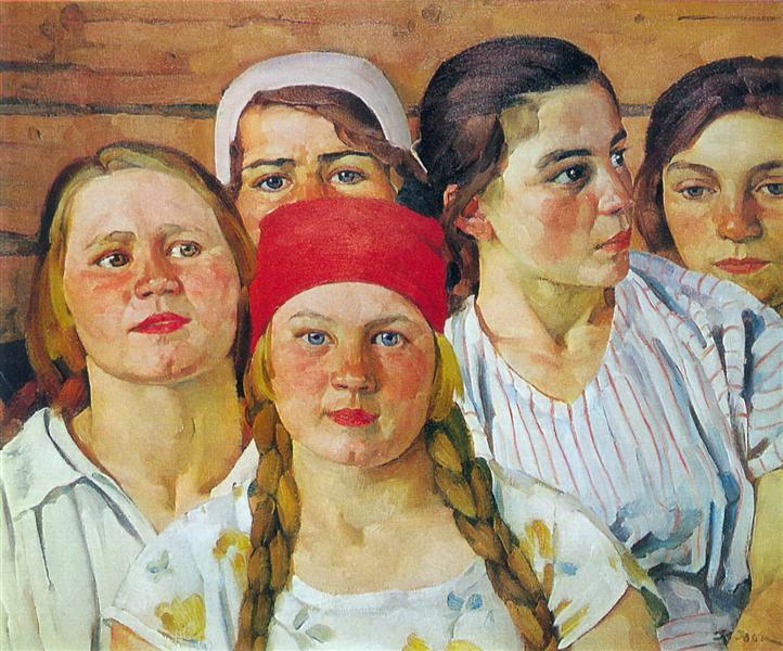 Podmoskovnaya youth. Ligachevo - Konstantin Yuon