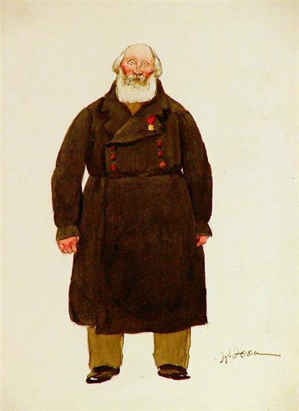 Sketch of Theatre costume - Konstantin Yuon