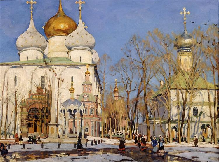 The Annunciation Day, 1922 - Konstantin Yuon