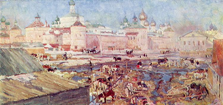 The Blue Day. Rostov The Great, 1906 - Konstantin Yuon