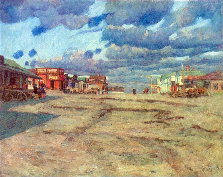 The Town Voskresensk, 1908 - Konstantin Yuon