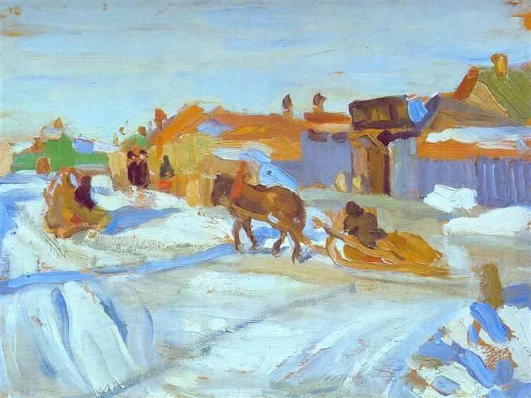 The Winter Sunny Day, 1916 - Konstantin Yuon