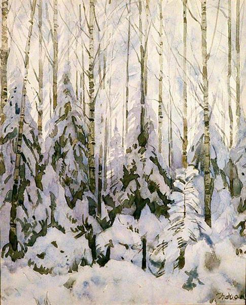 Winter in The Forest, 1935 - Konstantin Yuon