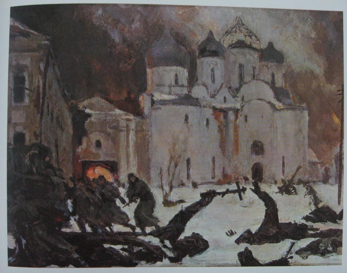 Fuga dos fascistas de Novgorod, Kukryniksy