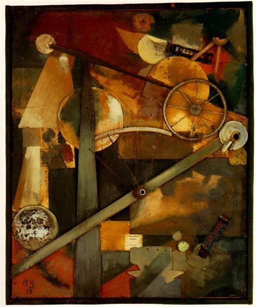 Construction for Noble Ladies, 1919 - Kurt Schwitters