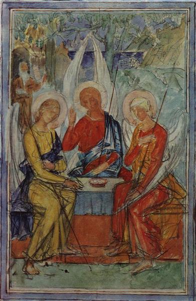 Trinity, 1915 - Kuzma Petrov-Vodkin