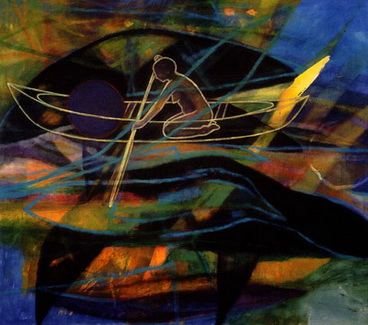 Canoe / Woman - Landon Mackenzie