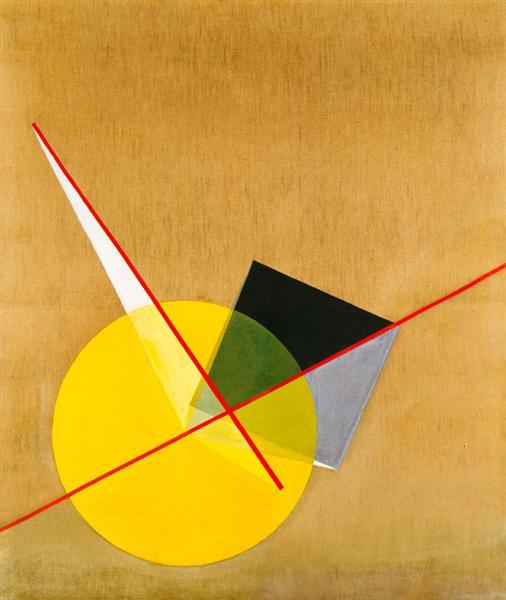 Yellow Circle - Laszlo Moholy-Nagy