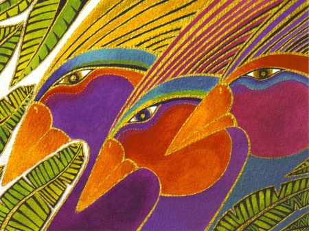 Birds From The Rainbow Forest Laurel Burch Wikiart Org