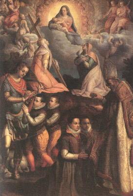 Consecration to the Virgin, 1599 - Лавиния Фонтана