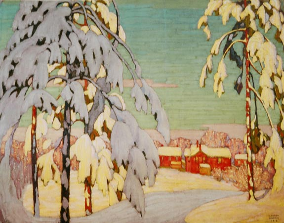 Winter Landscape with Pink House - Lawren Harris