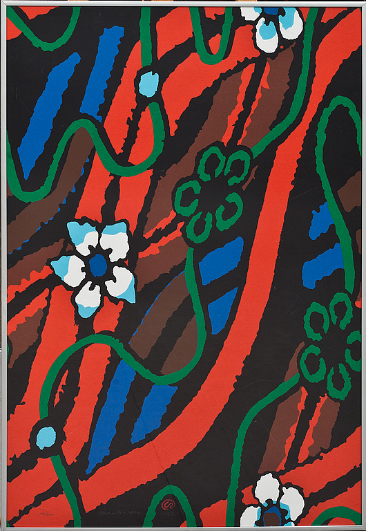 Komposition med blommor, 1997