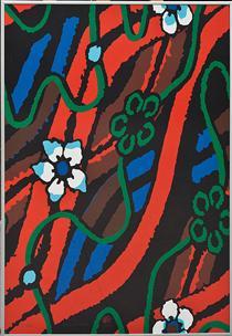 Komposition med blommor - Lennart Rodhe