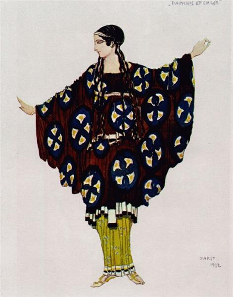 Daphnis and Chloe costume, 1912 - Leon Bakst