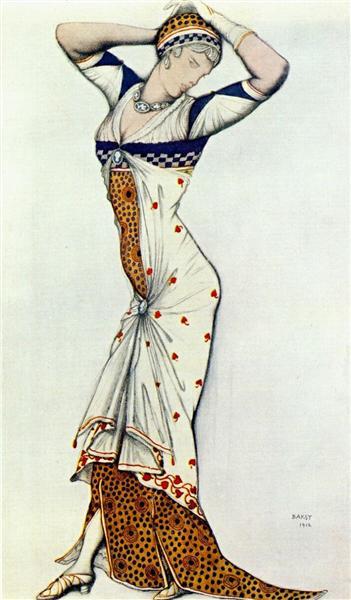 Design for a lady's dress, 1912 - Leon Bakst
