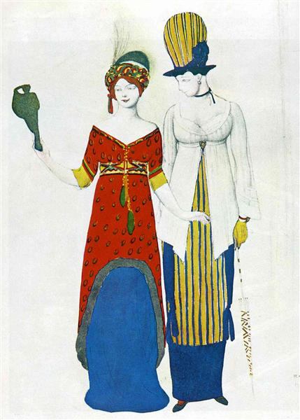 Fantasy on modern costume, 1910 - Leon Bakst