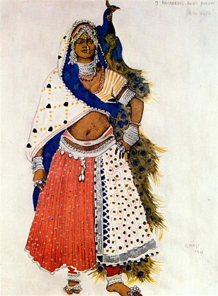 Le dieu bleu bayadere with peacock, 1912 - Leon Bakst