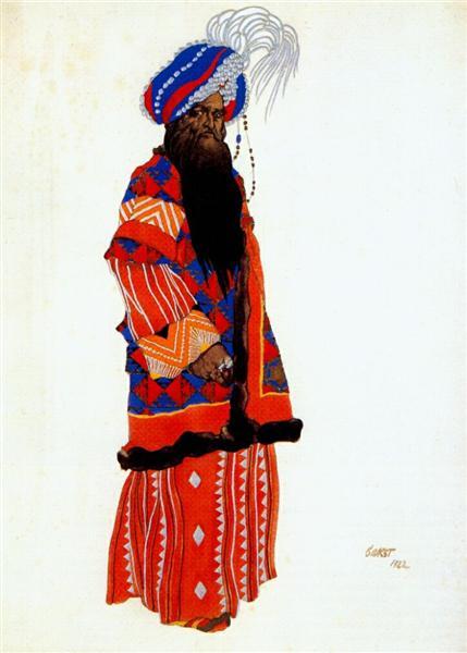 Samarkand Sultan, 1922 - Leon Bakst