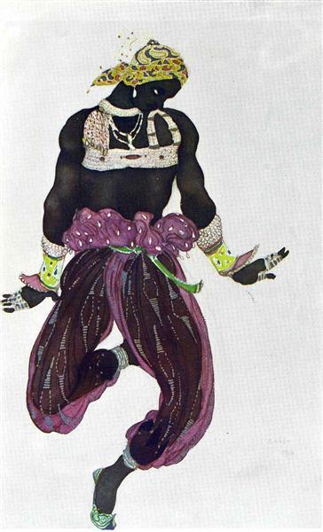 Scheherazade negre argent, 1910 - Leon Bakst