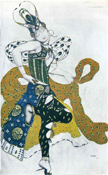Sketch for the ballet 'La Peri', by Paul Dukas, 1911 - Leon Bakst