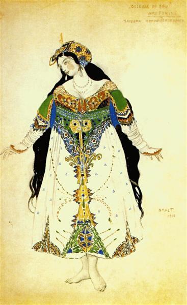 The Firebird, the tsarevna, 1910 - Leon Bakst