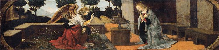 Annunciation, c.1480 - Leonardo da Vinci