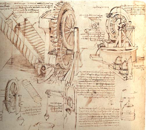Drawings of Water Lifting Devices, 1481