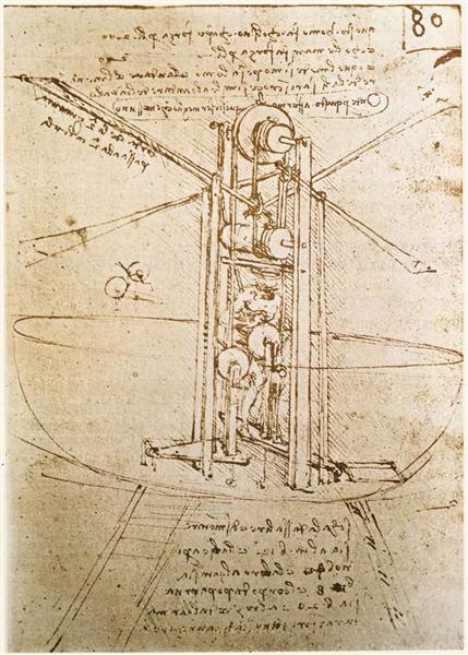 Flying machine, c.1487 - Leonardo da Vinci