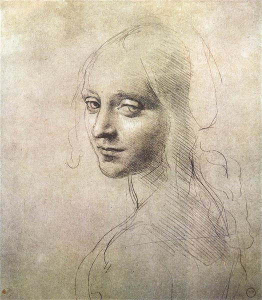 Head of a girl - da Vinci Leonardo
