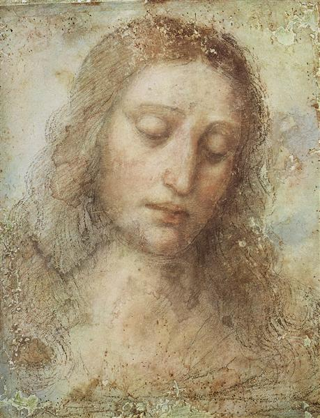 Head of Christ, c.1495 - Leonardo da Vinci