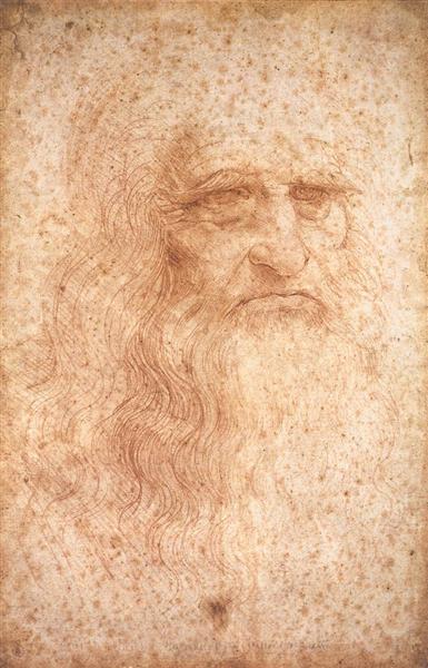 Portrait of a Bearded Man, possibly a Self Portrait, c.1513 - Leonardo da Vinci