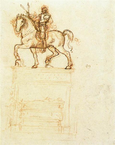 Study for the Trivulzio monument, c.1510 - Leonardo da Vinci
