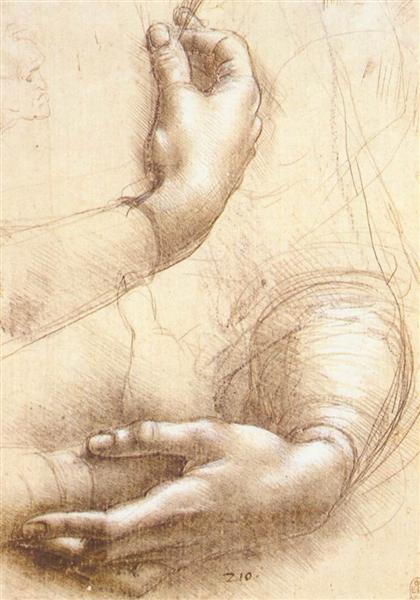 Study of hands, c.1474 - Leonardo da Vinci