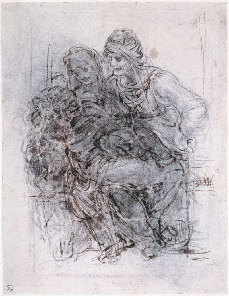 Study of St Anne, Mary and the Christ Child, 1503