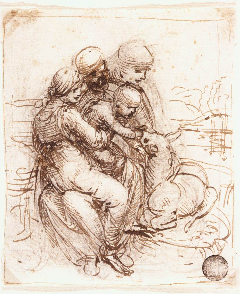 Study of St. Anne, Mary, the Christ Child and the young St. John, 1503