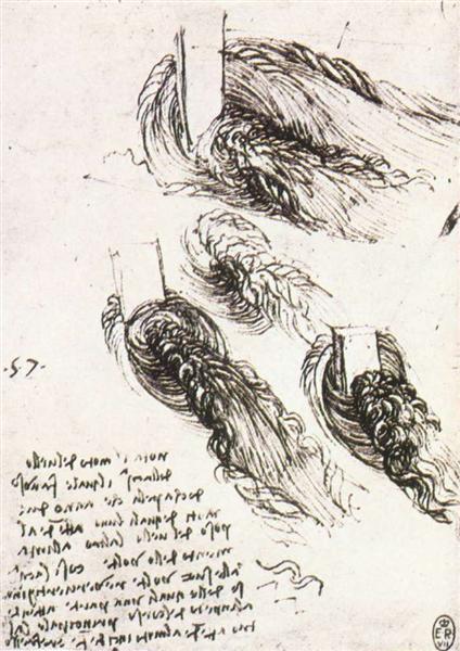 Study of water, c.1513 - Leonardo da Vinci