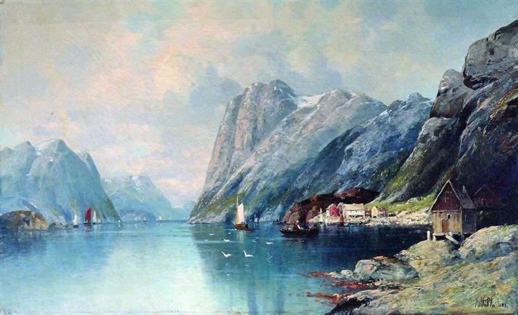 Fjord in Norway, 1899 - Lev Lagorio