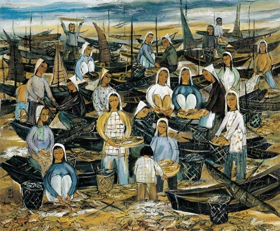 Fisherwomen - Lin Fengmian