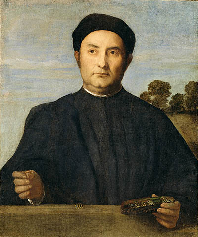Portrait of a Jeweler, Possibly Giovanni Pietro Crivelli, c.1510 - Lorenzo Lotto