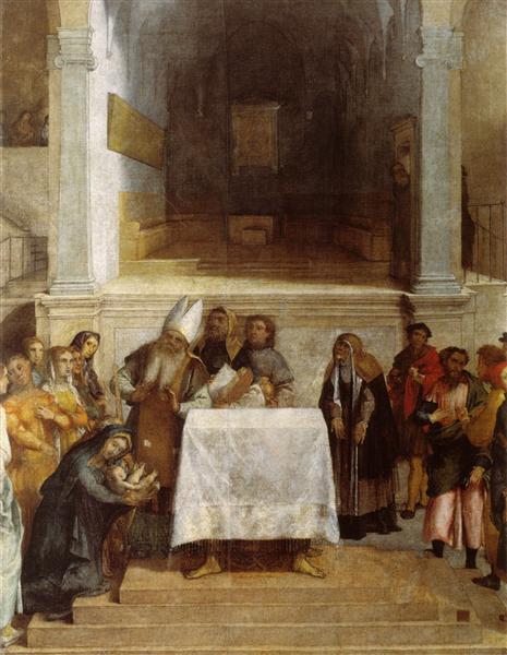 La Présentation au Temple, 1556 - Lorenzo Lotto
